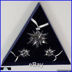 Swarovski 2011 Christmas Annual Edition Set of 3 Ornaments #1092039 NIB