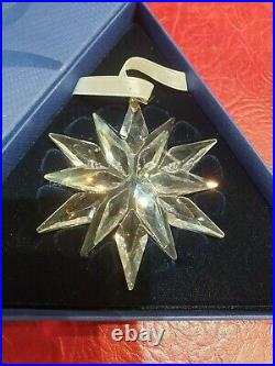 Swarovski 2011 Christmas Ornament 1092037 Boxed With Certificate