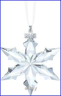 Swarovski 2015 Annual Christmas Snowflake Ornament Crystal MIB 5099840