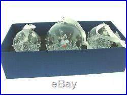 Swarovski 2017 Christmas Crystal Ball Ornament Set of Three