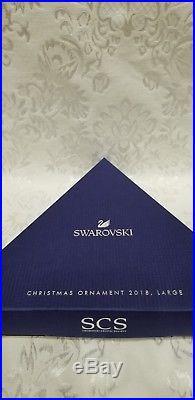 Swarovski 2018 EXTRA LARGE SCS GOLD ORNAMENT CHRISTMAS 5376665 X-MAS CRYSTAL