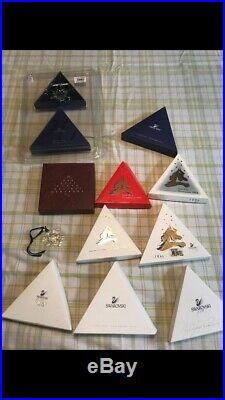 Swarovski 5427990 Crystal Annual Christmas Ornaments 1991-1998, 2000, 2007,2011