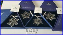 Swarovski, A. E 2016, 2017, 2018, 2019 Christmas Star Ornament Clear Crystal
