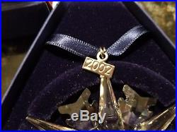 Swarovski Annual Edition Crystal Star/snowflake Christmas Ornament 2002 Mib