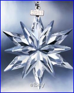 Swarovski Annual Large Snowflake Christmas Holiday Ornament 2011 NIB Crystal