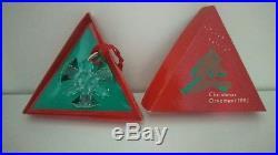 Swarovski Austria Crystal 1992 ANNUAL STAR CHRISTMAS ORNAMENT SNOWFLAKE Box