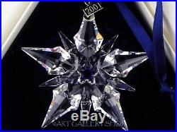 Swarovski Austria Crystal 2001 ANNUAL CHRISTMAS ORNAMENT STAR SNOWFLAKE Box COA