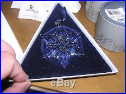 Swarovski Austrian Crystal 2000 Christmas Snowflake Ornament BOX COA