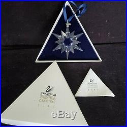 Swarovski Austrian Crystal Christmas Snowflake Star Annual Ornament 1997