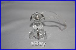 Swarovski Beagle With Crystal Keg Crystal & Silver Dog Christmas Tree Ornament
