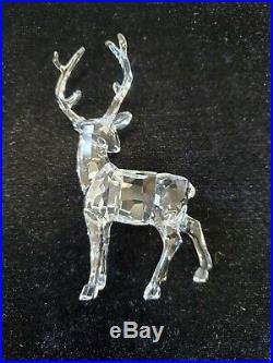 Swarovski CHRISTMAS STAG Ornament Reindeer Clear Crystal collectable
