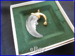 Swarovski CRYSTAL MEMORIES MAN in the HALF MOON FACE Christmas ORNAMENT MINT box