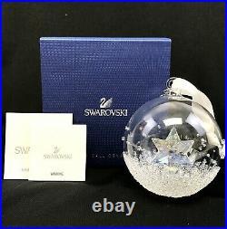 Swarovski Christmas Ball Annual Christmas Ornament 2014 with Box, Papers 5059023