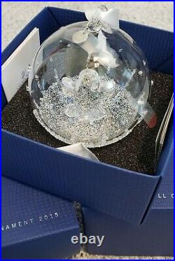 Swarovski Christmas Ball Ornament 2015 Limited Crystal 5135821 Retired