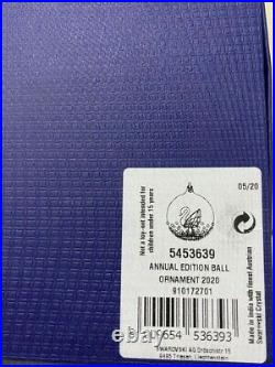 Swarovski Christmas Ball Ornament 2020 Annual Edition 5453639 New