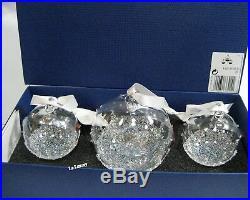 Swarovski Christmas Ball Ornament Set 2015, Crystal Authentic MIB 5136414