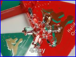 Swarovski Christmas Ornament 1992 Mib #168690