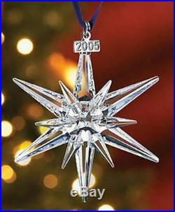 Swarovski Christmas Ornament 2005 Clear 680502 Mint Boxed Retired Rare