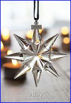 Swarovski Christmas Ornament 2009 Clear 938702 Mint Boxed Retired Rare