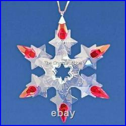 Swarovski Christmas Ornament 2010 Red Tips USA Excl 1074802 Mint Boxed Retired