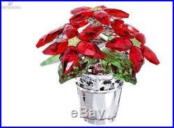 Swarovski Christmas Poinsettia Crystal Large RETIRED 1139997 NIB