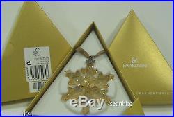 Swarovski Christmas SCS Gold Ornament-2012 Large Star Certificate Lost 1139970