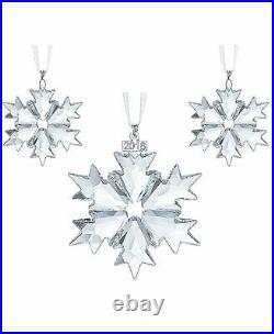 Swarovski Christmas SNOWFLAKES 2018 Ornaments Set of 3 #5357983 New