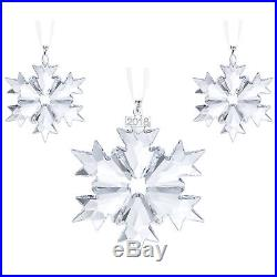 Swarovski Christmas Set 2018, Snowflake Ornament Crystal Authentic MIB 5357983
