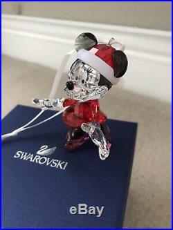 Swarovski Christmas Xmas ORNAMENT MINNIE MOUSE #5004687 in Box BRAND NEW Disney