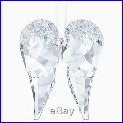 Swarovski Clear Crystal Christmas Ornament ANGEL WINGS -5403312 New