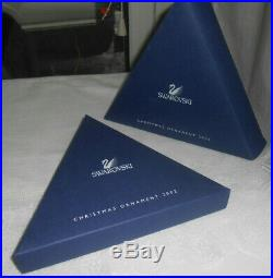 Swarovski Clear Crystal Christmas Snowflake Star 2002 Annual Ornament Coa 288802