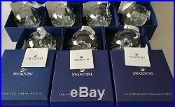 Swarovski, Complete Serien Christmas Ball Ornaments 2013 till 2019