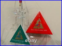 Swarovski Crystal 1991 Annual Edition Christmas Ornament Snowflake European Star