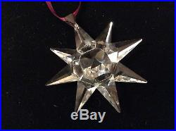 Swarovski Crystal 1991 STAR Annual Christmas Ornament with Box & COA Pre Owned