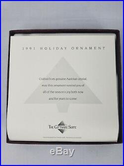 Swarovski Crystal 1991 Snowflake Annual Christmas Ornament In Original Box