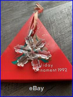 Swarovski Crystal 1992 Annual Edition Christmas Ornament in Box