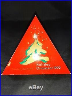 Swarovski Crystal 1992 Christmas Ornament With Coa And Box