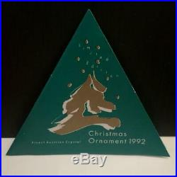 Swarovski Crystal 1992 Christmas Tree Ornament Mint In Box + Certificate S4156