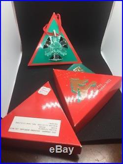 Swarovski Crystal 1992-SNOWFLAKE Annual Christmas Ornament With Box & COA