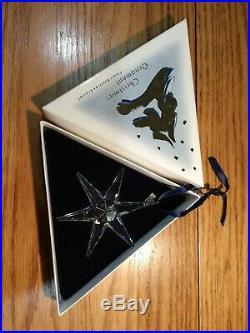 Swarovski Crystal 1993 Annual Snowflake Ornament Christmas EUC in Original Box