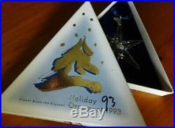 Swarovski Crystal 1993 Large Snowflake Christmas Ornament In Original Box