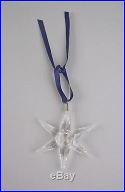 Swarovski Crystal 1993-STAR Annual Christmas Ornament with Box & COA