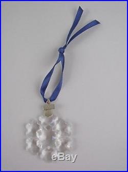 Swarovski Crystal 1994-SNOWFLAKE Annual Christmas Ornament with Box & COA