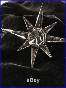 Swarovski Crystal 1995 Christmas ornament used, flawless, no box