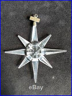 Swarovski Crystal 1995 Star Snowflake Christmas Ornament