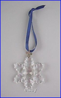 Swarovski Crystal 1996-SNOWFLAKE Annual Christmas Ornament with Box & COA
