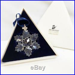 Swarovski Crystal 1996 Snowflake Star Christmas Tree Holiday Ornament in Box