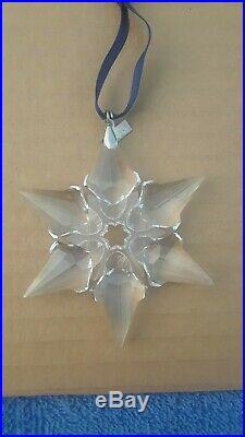 Swarovski Crystal 1997, And 2000, Annual Snowflake Christmas Ornaments, No Boxes