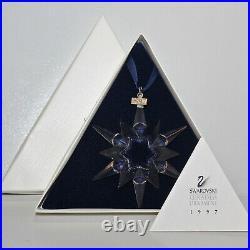 Swarovski Crystal 1997 Annual Edition Christmas Ornament Snowflake 211987 MIB