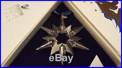 Swarovski Crystal 1997 Annual Large Christmas Ornament Snowflake Star in Box